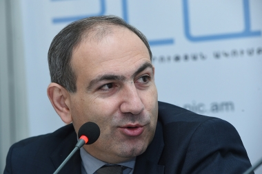 MP, 'Civil Agreement' party member and 'Elq' Alliance candidate Nikol Pashinyan is guest at the Media Center - Photolure News Agency