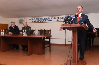 Members of 'Ohanyan-Raffi-Oskanian' Alliance paid a visit to the Veterans Association of Armenia - Photolure News Agency