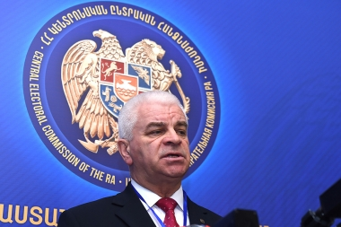 Representatives of the CIS observation mission answer the questions of media representatives - Photolure News Agency