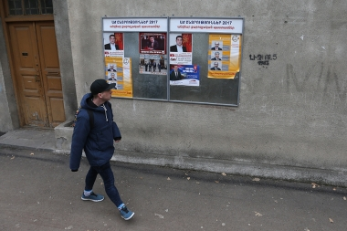Pre-election campaign posters in the streets of Yerevan, Armenia - Photolure News Agency