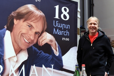 French renowned pianist Richard Clayderman gave a press conference at Grand Hotel Yerevan - Photolure News Agency