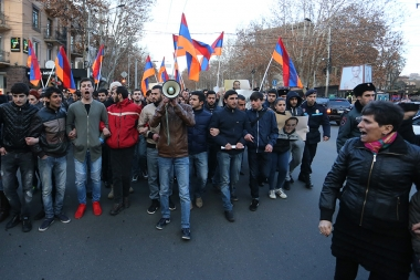 Protest action in support of Artur Sargsyan who supplied food to the members of 'Sasna Tsrer' group took place in Yerevan - Photolure News Agency