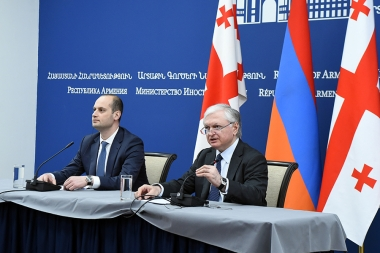 RA Minister of Foreign Affairs Edward Nalbandian gave a joint press conference Foreign Minister of Georgia Mikheil Janelidze - Photolure News Agency