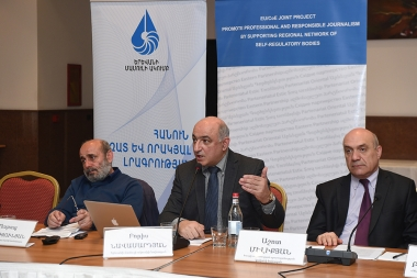 An event withtin the framework of the 'Broadcast media of Armenia in 2017. Promoting ethical rules within the coverage of the parliamentary elections' YPC project took place at Congress Hotel - Photolure News Agency