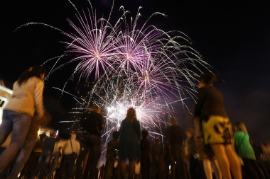 A festive firework within the framework of the triple holiday took place on Renaissance Square of Stepanakert, Artsakh Republic - Photolure News Agency