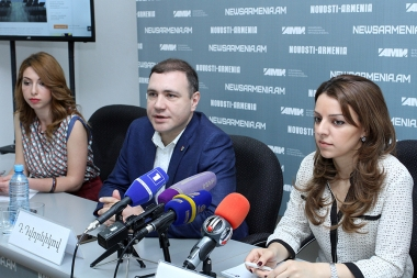 A press conference on the topic of 'Russia-Armenia-Artsakh. Humanitarian cooperation projects and artistic creation' took place at Novosti-Armenia press center - Photolure News Agency