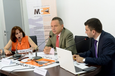 Ambassador of France to Armenia Jean-Francois Charpentier gave a press conference ahead of the French national day at the Media Center - Photolure News Agency