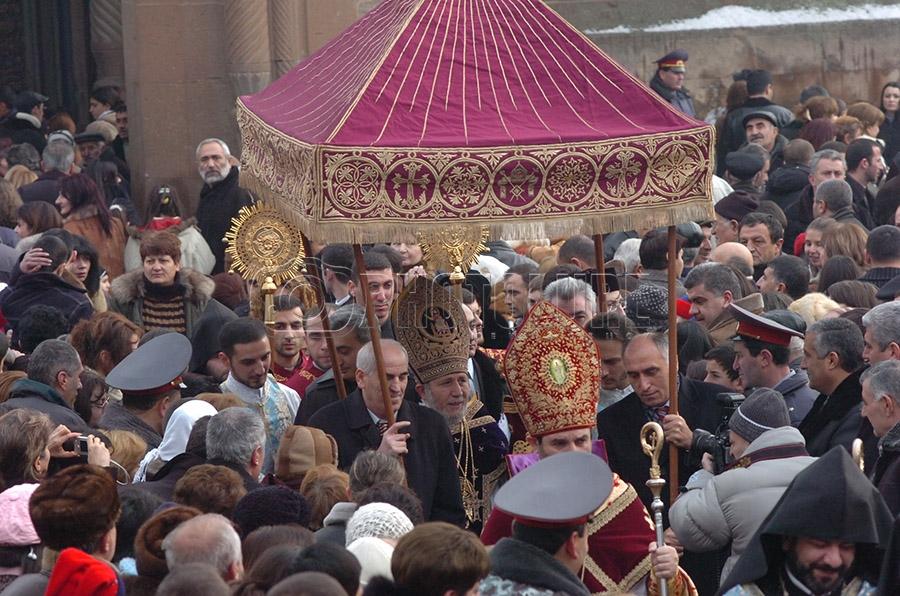 Armenia's Apostolic church celebrates religious feast of