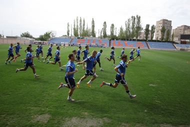 UEFA Euro-2016 Group I. Pre-match training of Denmark national football team at Banants Stadium - Photolure News Agency