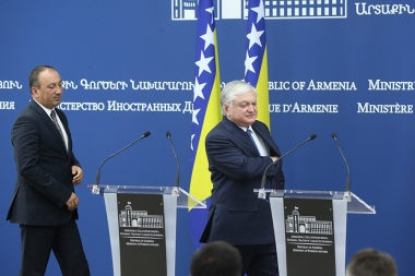 RA Minister of Foreign Affairs Edward Nalbandian and Minister of Foreign Affairs of Bosnia and Herzegovina Igor Crnadak gave a joint press conference - Photolure News Agency