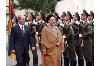 Iranian President Mohammad Khatami ended on Thursday a two-day official visit to Armenia - Photolure News Agency