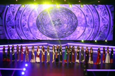 'Miss Armenia 2017' beauty contest took place at the National Academic Theatre of Opera and Ballet named after Al. Spendiaryan in Yerevan, Armenia - Photolure News Agency