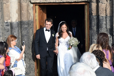 Wedding ceremony of the leading Armenian chess player Levon Aronian and Arianne Caoili took place in Saghmosavank monastic complex of Aragatsotn Province, Armenia - Photolure News Agency