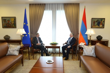 RA Minster of Foreign Affairs Edward Nalbandian received Commissioner for European Neighborhood Policy and Enlargement Johannes Hahn - Photolure News Agency