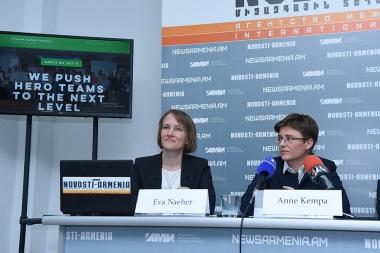 A press conference ahead of the 'Armenian startup academy' pre-acceleration program's launch took place at Novosti-Armenia press center - Photolure News Agency