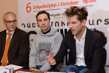 German pianists Andreas Kern and Paul Cibis gave a press conference at Aram Khachaturian Concert Hall - Photolure News Agency