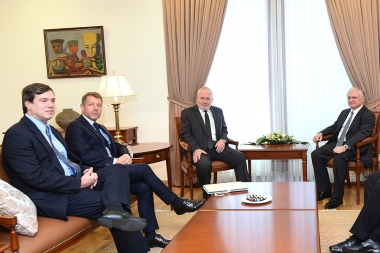 RA Minister of Foreign Affairs Edward Nalbandian received the OSCE Minsk Group Co-Chairs, Ambassadors Igor Popov of Russia, Andrew Schofer of the U.S. and Pierre Andrieu of France - Photolure News Agency