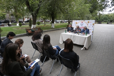 A press conference ahead of the 'Book Night 2017' took place on Misak Manushyan Square - Photolure News Agency