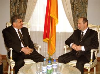 RA President Robert Kocharyan met today with the Syrian Ambassador Extraordinary and Plenipotentiary to Armenia Hamed Hassan - Photolure News Agency