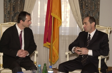 RA President Robert Kocharyan hosted today the newly appointed permanent coordinator of the UN Armenian office Mr Joel Budro - Photolure News Agency