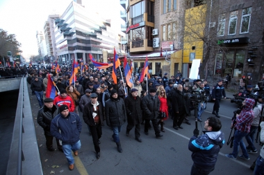 The 7th day of 'New Armenia' Public Salvation Front's protest march in Yerevan, Armenia - Photolure News Agency