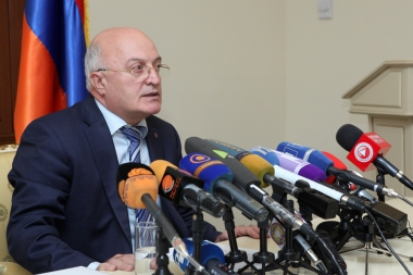 Working group on the constitutional referendum gave a press conference at the Administrative building of the Investigative Committee - Photolure News Agency