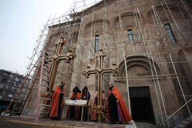 Consecration of crosses of the newly built church in Arabkir District - Photolure News Agency
