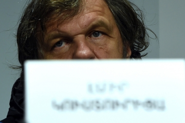 A press conference dedicated to the concert of Emir Kusturica and 'The No Smoking Orchestra' took place at Double Tree By Hilton Hotel - Photolure News Agency