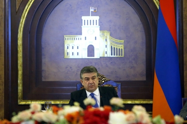 RA Prime Minister Karen Karapetyan gives a press conference - Photolure News Agency