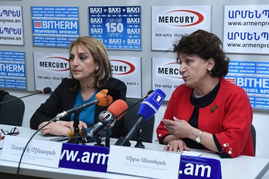 Head of Social Assistance Department of the Ministry of Labor and Social Affairs Astghik Minasyan gave a press conference in 'Armenpress' news agency - Photolure News Agency