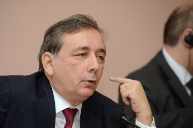 Rector of the academic region Ile-de-France, Chancellor of the Paris Universities Gilles Pecout holds a lecture at the Yerevan State University - Photolure News Agency