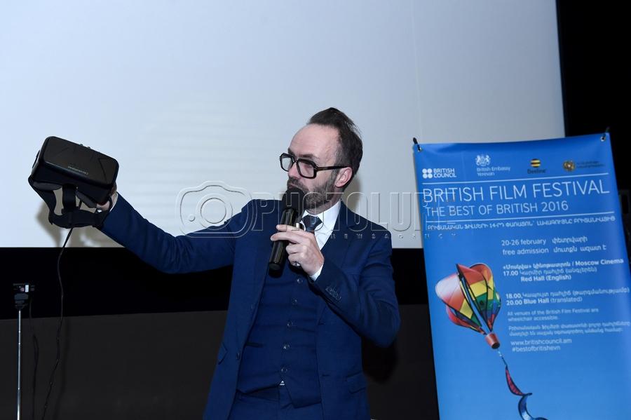 Guest in frames of the \'British Film Festival\' Simon Wilkinson ...