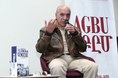 French-Armenian historian Raymond Gevorgyan read a lecture on the topic of 'Analyze the history and create the future: Genocide case studies' at the AGBU office in Armenia - Photolure News Agency