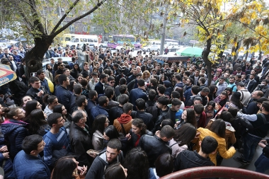 Students of the institutions of higher education hold a strike action against the law on conscription - Photolure News Agency