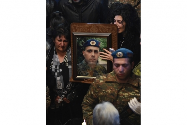Requiem for a soldier Sasun Mkrtchyan who was killed during the clashes between the Nagorno-Karabakh and Azerbaijan took place at the St. Hovhannes Church in Yerevan - Photolure News Agency