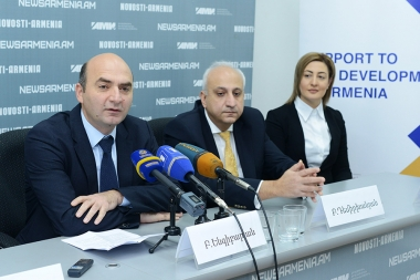 A press conference dedicated to the 'Strengthening the provinces with the promotion of high technologies' republican hightech conference took place at Novosti-Armenia press center - Photolure News Agency