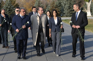 Minister of Foreign Relations of Brazil Aloysio Nunes Ferreira paid a visit to the Armenian Genocide memorial complex - Photolure News Agency