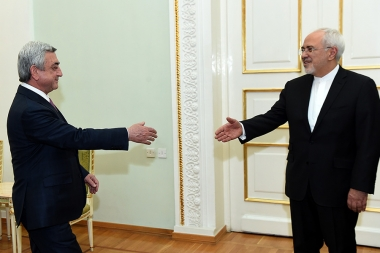RA President Serzh Sargsyan received Minister of Foreign Affairs of Iran Mohammad Javad Zarif - Photolure News Agency