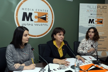 MPs Margarit Yesayan and Zaruhi Batoyan spoke about the problems of people with disabilities in Armenia: international commitments, pre-election promises and reality at the Media Center - Photolure News Agency