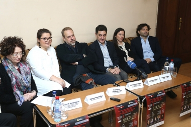A press conference ahead of concert dedicated to the International Day of Commemoration and Dignity of the Victims of the Crime of Genocide took place at Aram Khachaturian Concert Hall - Photolure News Agency