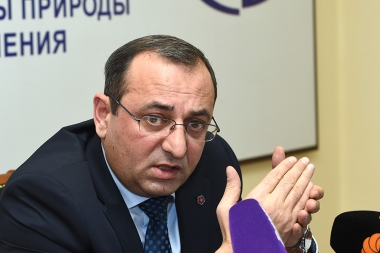 RA Minister of Nature Protection Artsvik Minasyan gave a year-end press conference at the RA MNP - Photolure News Agency