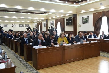 The draft budget for 2018 year of Yerevan was discussed during the regular session of the Yerevan City Council - Photolure News Agency
