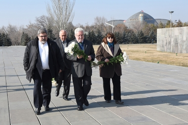 Sao Paulo City Council member Gilberto Tonos Natalini paid a visit to the Armenian Genocide memorial complex - Photolure News Agency