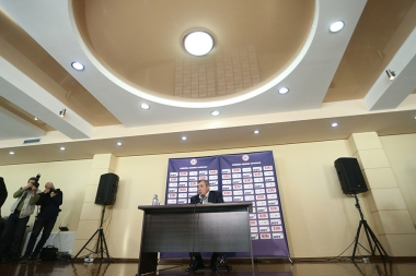 President of the RA Football Federation Ruben Hayrapetyan gave a press conference at the Football Academy of Yerevan - Photolure News Agency