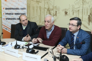 A press conference on the topic of 'Social Crisis. The fight against price increases in Armenia is through inflation promotion' tokk place in 'Hodvats 3' press club - Photolure News Agency