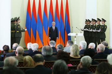 RA President Serzh Sargsyan handed state awards at the RA Presidential Palace - Photolure News Agency