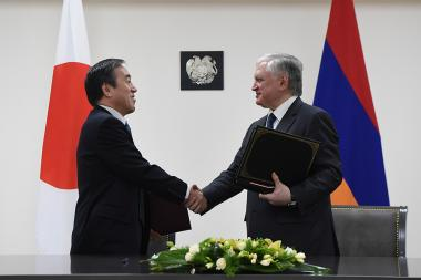 Signing of agreement on 'Liberalization, Encouragement and Protection of Investments' between the Government of Armenia and the Government of Japan took place at the RA Ministry of Foreign Affairs - Photolure News Agency
