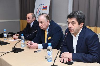 A press conference on the topic of 'To Pyeongchang: Winter Paralympic Games 2018' took place at the Armenia Marriott Hotel - Photolure News Agency