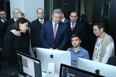 Georgian Prime Minister Giorgi Kvirikashvili paid a visit to 'Tumo' Center for Creative Technologies - Photolure News Agency