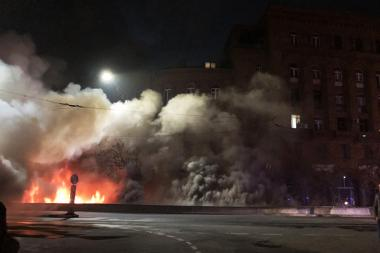 Major fire in the underground entrance of Mashtots street which hasn't been used for a long time, Yerevan, Armenia - Photolure News Agency